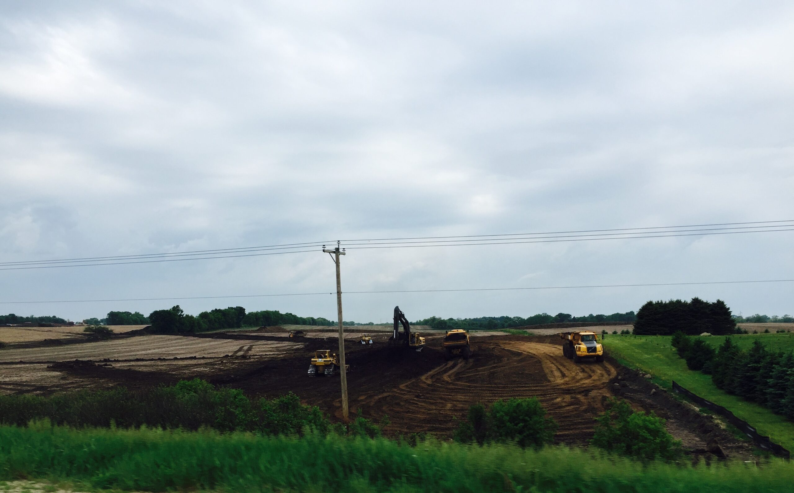 Construction site at Beaver Dam Cold Storage