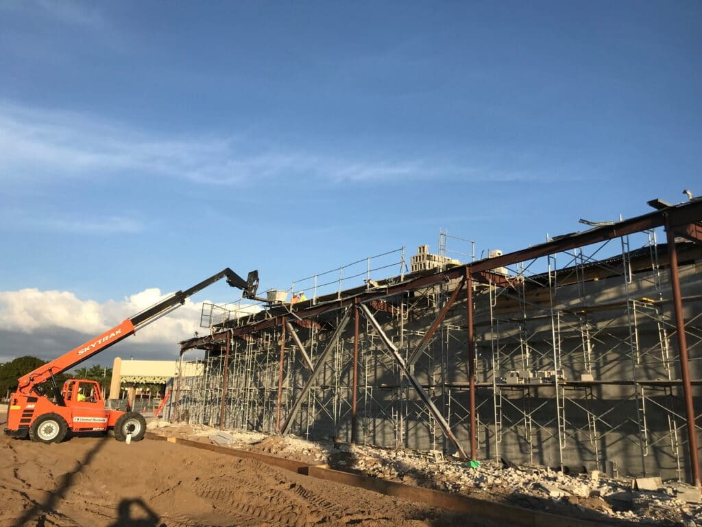 In progress construction site at Coastland Center