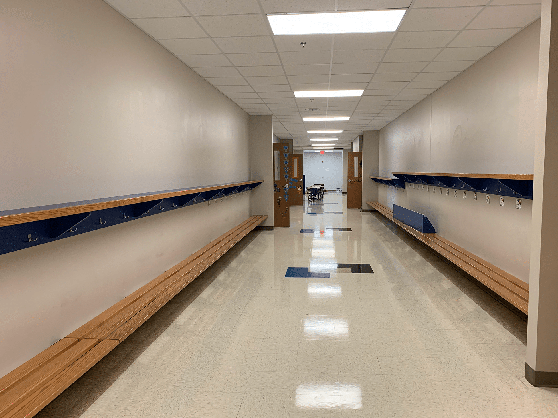 Central Wisconsin Christian School hallway within the school